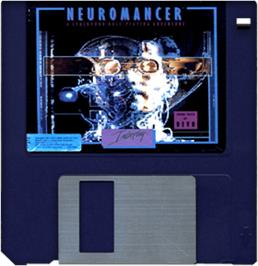 Cartridge artwork for Neuromancer on the Commodore Amiga.