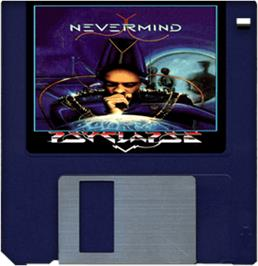 Cartridge artwork for Never Mind on the Commodore Amiga.