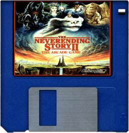 Cartridge artwork for Neverending Story 2 on the Commodore Amiga.