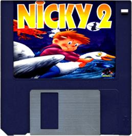 Cartridge artwork for Nicky 2 on the Commodore Amiga.