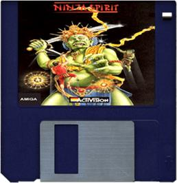 Cartridge artwork for Ninja Spirit on the Commodore Amiga.