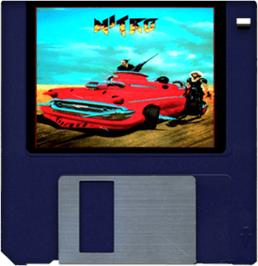 Cartridge artwork for Nitro on the Commodore Amiga.