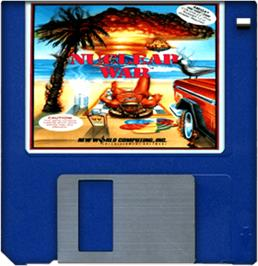 Cartridge artwork for Nuclear War on the Commodore Amiga.