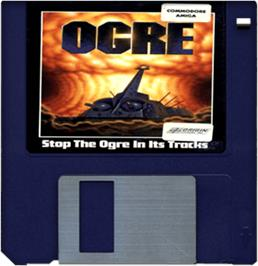 Cartridge artwork for Ogre on the Commodore Amiga.