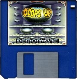 Cartridge artwork for Ooops Up on the Commodore Amiga.
