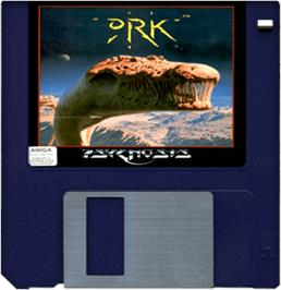 Cartridge artwork for Ork on the Commodore Amiga.