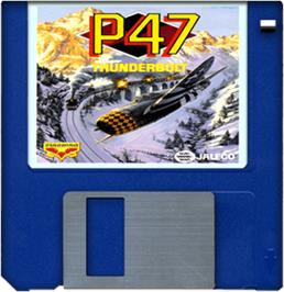 Cartridge artwork for P-47 Thunderbolt: The Freedom Fighter on the Commodore Amiga.