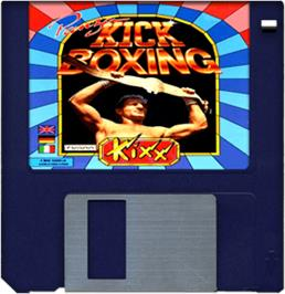 Cartridge artwork for Panza Kick Boxing on the Commodore Amiga.