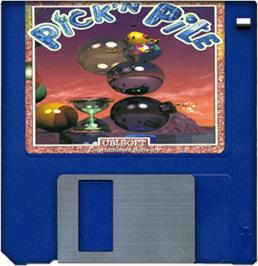 Cartridge artwork for Pick 'n' Pile on the Commodore Amiga.