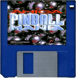 Cartridge artwork for Pinball Mania on the Commodore Amiga.