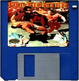 Cartridge artwork for Pit Fighter on the Commodore Amiga.