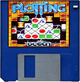 Cartridge artwork for Plotting on the Commodore Amiga.