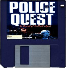 Cartridge artwork for Police Quest: In Pursuit of the Death Angel on the Commodore Amiga.