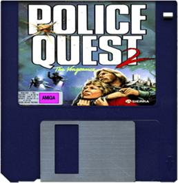 Cartridge artwork for Police Quest 2: The Vengeance on the Commodore Amiga.