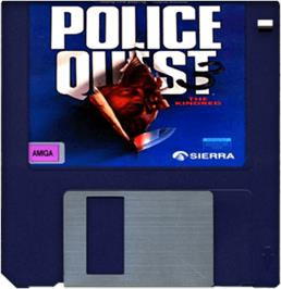 Cartridge artwork for Police Quest 3: The Kindred on the Commodore Amiga.