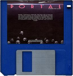 Cartridge artwork for Portal on the Commodore Amiga.