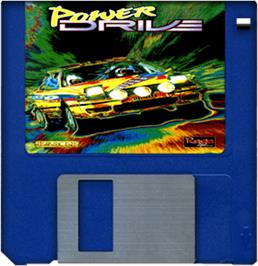 Cartridge artwork for Power Drive on the Commodore Amiga.