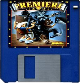 Cartridge artwork for Premiere on the Commodore Amiga.