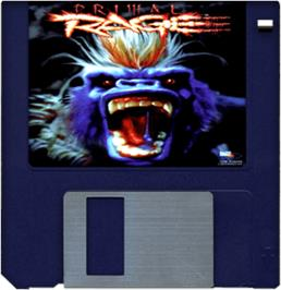 Cartridge artwork for Primal Rage on the Commodore Amiga.