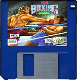 Cartridge artwork for Pro Boxing Simulator on the Commodore Amiga.