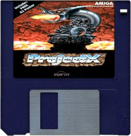 Cartridge artwork for Project-X on the Commodore Amiga.