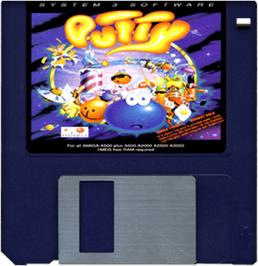 Cartridge artwork for Putty on the Commodore Amiga.