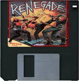 Cartridge artwork for Renegade on the Commodore Amiga.