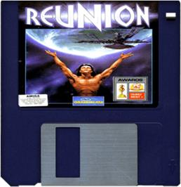 Cartridge artwork for Reunion on the Commodore Amiga.