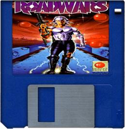 Cartridge artwork for RoadWars on the Commodore Amiga.