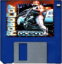 Cartridge artwork for Robocop on the Commodore Amiga.