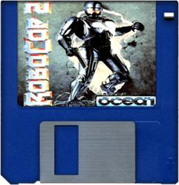 Cartridge artwork for Robocop 2 on the Commodore Amiga.