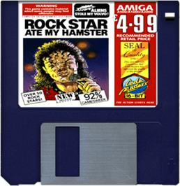 Cartridge artwork for Rock Star Ate my Hamster on the Commodore Amiga.