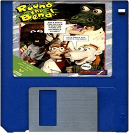 Cartridge artwork for Round the Bend on the Commodore Amiga.