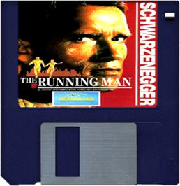 Cartridge artwork for Running Man on the Commodore Amiga.