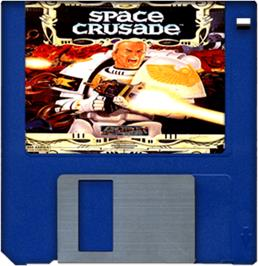 Cartridge artwork for Space Crusade on the Commodore Amiga.