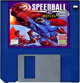 Cartridge artwork for Speedball 2: Brutal Deluxe on the Commodore Amiga.