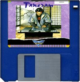 Cartridge artwork for Tangram on the Commodore Amiga.