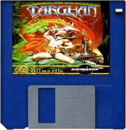 Cartridge artwork for Targhan on the Commodore Amiga.