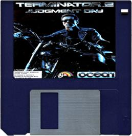 Cartridge artwork for Terminator 2 - Judgment Day on the Commodore Amiga.