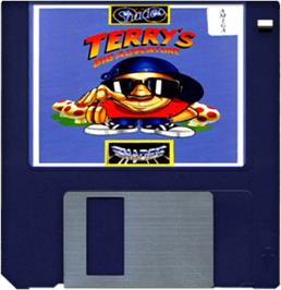 Cartridge artwork for Terry's Big Adventure on the Commodore Amiga.