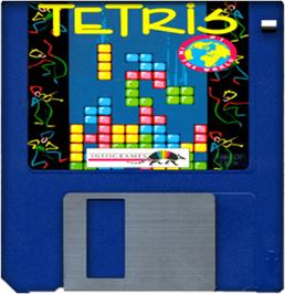 Cartridge artwork for Tetris on the Commodore Amiga.
