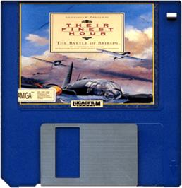 Cartridge artwork for Their Finest Hour: The Battle of Britain on the Commodore Amiga.