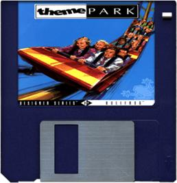Cartridge artwork for Theme Park on the Commodore Amiga.