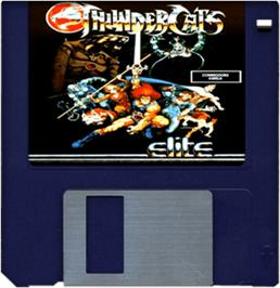 Cartridge artwork for Thundercats on the Commodore Amiga.