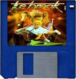 Cartridge artwork for Tie Break on the Commodore Amiga.