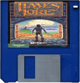 Cartridge artwork for Times of Lore on the Commodore Amiga.