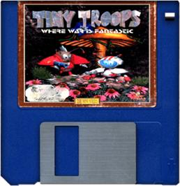 Cartridge artwork for Tiny Troops on the Commodore Amiga.