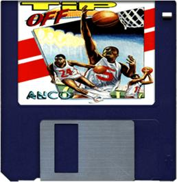 Cartridge artwork for Tip Off on the Commodore Amiga.