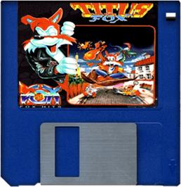 Cartridge artwork for Titus the Fox: To Marrakech and Back on the Commodore Amiga.