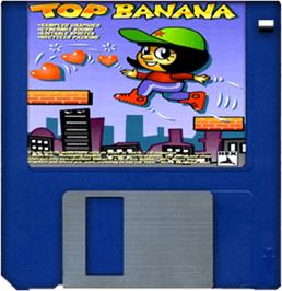 Cartridge artwork for Top Banana on the Commodore Amiga.